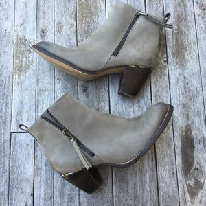 Steve Madden Wantagh Ankle Booties Double ZIP Gray